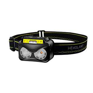 INWISH Rechargeable Running Headlamp Flashlight with Red Light, Super Bright LED Head Lamp Gear Ultra-Light Hands Free Waterproof Outdoor Jogging Headlights for Kids and Adults