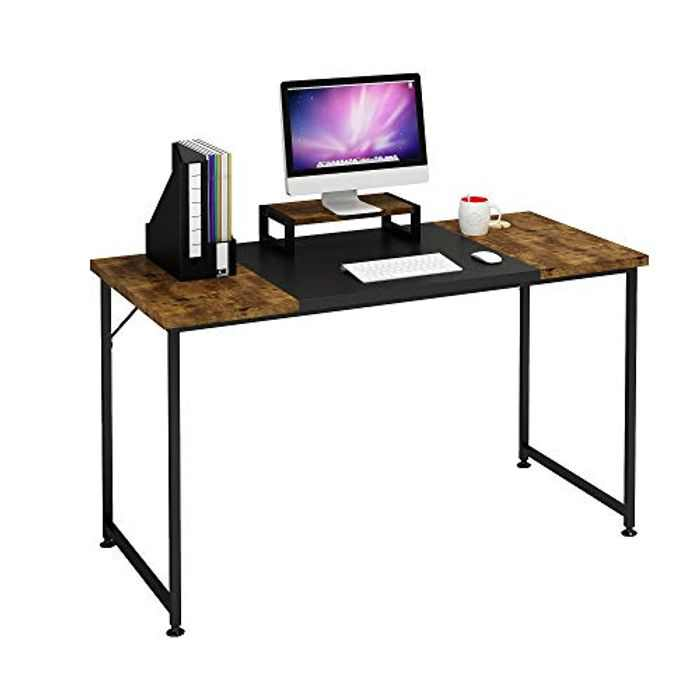 Magic Life Computer Desk,Study Table,Laptop Table,Writing Desk 47 Inch with Monitor Stand, Modern Simple Style PC Desk with Splice Board