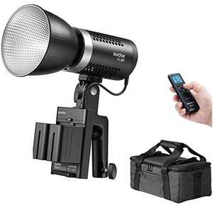Godox ML60, 60W Handheld LED Video Light, 69000LUX@0.5m, CRI96+ TLCI 97+, 16 Groups 32 Channels 99IDs, Ultra Quiet Fan, Support NP-F970 Battery, 8 Preset Lighting FX Effects, W/LAOFAS Color Filters