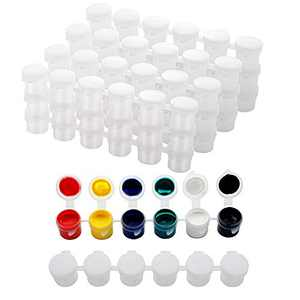30 Strips Empty Paint Strips Paint Cup Pots Clear Storage Containers Painting Arts Crafts Supplies for Classrooms Plastic Storage Container for Organizing Paint Eye Primer (5ml/30pc)