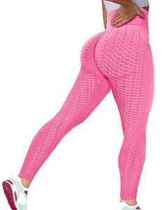 Murandick Booty Butt Lifting Leggings for Women Scrunch High Waist Textured Yoga Workout Pants