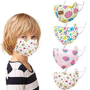 Jamal Washable Kids Ice Silk Face Covering with Adjustable Ear Loops for Protection, Reusable Cute Face Cover for Girls & Boys