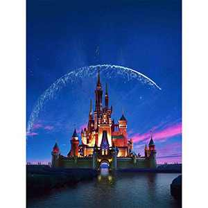 5D Diamond Painting by Number Kit for Adults Kids, Full Round Drill Kit Diamond Picture Art, Perfect for Home Wall Decor Gift 12x16 Inch