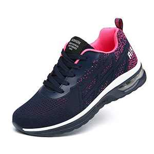 LUOBANIU Women Casual Shoes Ultra Lightweight Sneakers Fashion Walking Athletic Non Slip Breathable Running Shoes 5068Red 5.5 US