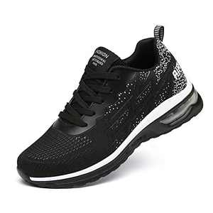 LUOBANIU Women Casual Shoes Ultra Lightweight Sneakers Fashion Walking Athletic Non Slip Breathable Running Shoes 5068Black 5.5 US