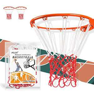 psler 2 Pack Basketball Net Outdoor, Basketball Hoop net New Basketball net Measures 22 inch,fits for Anti-Whip Outdoor or Indoor Professional Competition,12 Loops