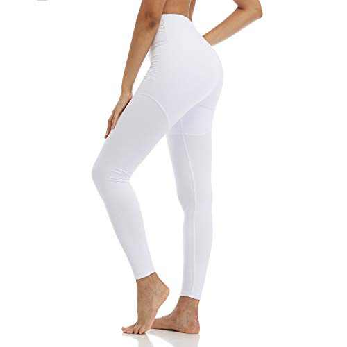 TNNZEET High Waisted Printed Leggings for Women - Buttery Soft Pattern Ankle Pants for Yoga Workout Daily Regular & Plus White