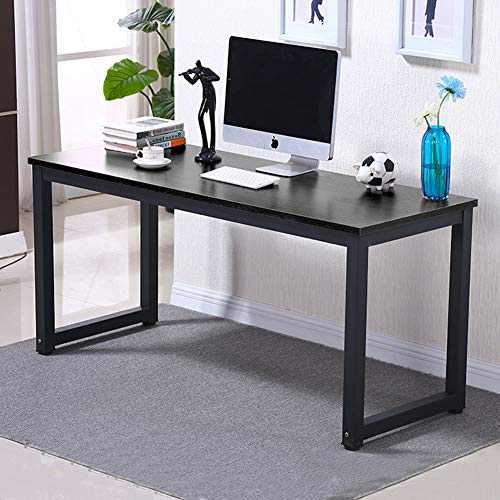 Freehawk Computer Desk 47-Inch Large Home Desk Workstation Office Desk Computer Table Gaming Writing Studying Desk for Home Office