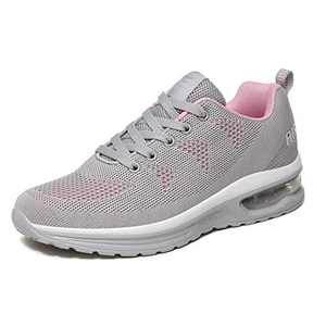 LUOBANIU Women Casual Shoes Ultra Lightweight Sneakers Fashion Walking Athletic Non Slip Breathable Running Shoes 5068Grey 8.5 US