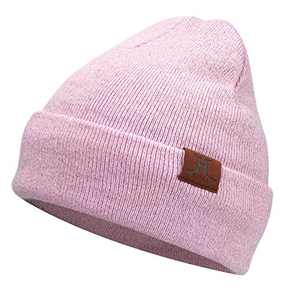 AQOTHES Womens Winter Beanie Daily Slouchy Knit Warm Fleece Lined Skull Hat for Women Pink