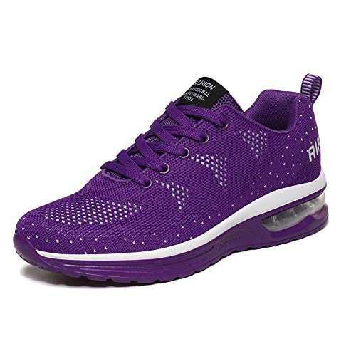 LUOBANIU Women Casual Shoes Ultra Lightweight Sneakers Fashion Walking Athletic Non Slip Breathable Running Shoes 5068Purple 8 US