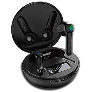 AOYODKG MGS19 Wireless Earbuds, [Upgraded] BT5.0 in-Ear Stereo Earphones, IPX7 Waterproof in-Ear Sport Earphones, USB- Quick Charge, with Charging Case Mic, Touch Control (Black)