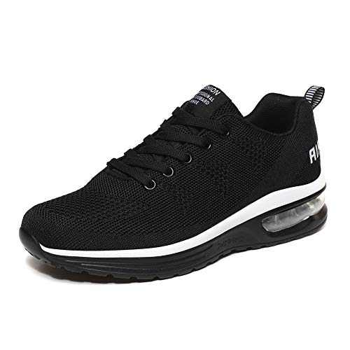 LUOBANIU Women Casual Shoes Ultra Lightweight Sneakers Fashion Walking Athletic Non Slip Breathable Running Shoes 5068Black 8 US