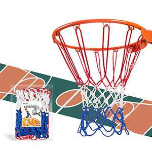 psler 2 Pack Basketball Net Outdoor, Basketball Hoop net New Basketball net Suitable for All Weather Anti-Whip Outdoor or Indoor Professional Competition,12 Loops