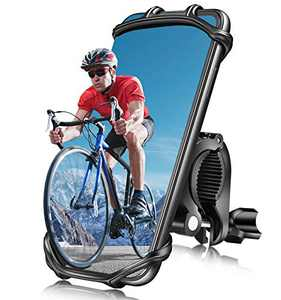 """Bike Phone Mount Holder, Detachable Motorcycle Phone Mount, Phone Holder for Bike, 360° Rotation Universal Bicycle Motorcycle Phone Mount Holder Holds 4-7.5"""" Cell Phones iPhone12/iPhone 11 Pro/Android"""