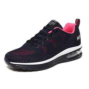 LUOBANIU Women Casual Shoes Ultra Lightweight Sneakers Fashion Walking Athletic Non Slip Breathable Running Shoes 5068Blue 9.5 US