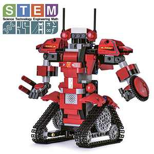Ganowo Robot Building Kits for Kids, STEM Remote Controlled Robot kit Toys Building Robot for Kids,Teens, Educational Learning Science Projects Ages 6-12 Boys and Girls (RED)