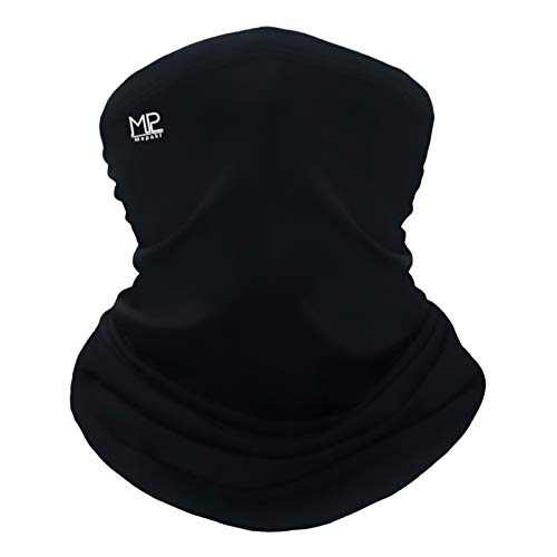 Mepakl Neck Gaiter Face Scarf Mask - Sun Protection Cooling Breathable Face Cover Bandana for Fishing Running Motorcycling (Black)