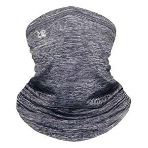 Mepakl Neck Gaiter Face Scarf Mask - Sun Protection Cooling Breathable Face Cover Bandana for Fishing Running Motorcycling (Gray)