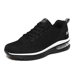LUOBANIU Women Casual Shoes Ultra Lightweight Sneakers Fashion Walking Athletic Non Slip Breathable Running Shoes 5068Black 9.5 US