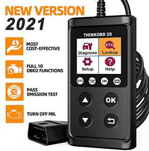 thinkcar ThinkOBD 20 OBD2 Scanner, Check Engine Car Code Reader with Full OBD2 Functions, Universal OBD2/ EOBD Car Scanner for Read/Clear Code/EVAP Test/O2 Sensor and I/M Readiness