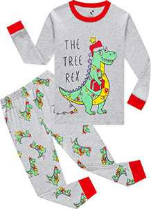 Pajamas Boys Christmas Kids Children Dinosaurs Pjs Holiday Long Sleeve Pants Set Gift Set Size 5