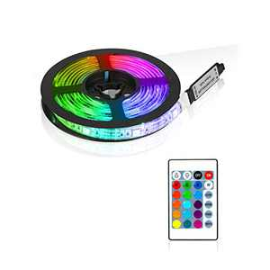 Padana TV LED Backlight, 6.6ft RGB LED Strip Lights with Remote for 32-65 inch TV, 16 Colors Changing 6 Modes Control, USB Powered