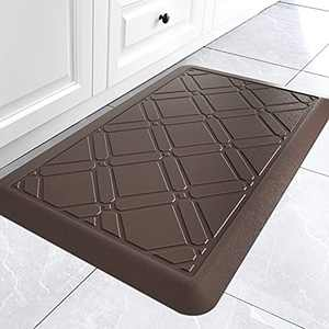 "DEXI Kitchen Anti Fatigue Mat Floor Runner Rug for In Front of Sink Cushioned Comfort Standing 20""x30""x3/4"",Brown"