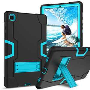 GUAGUA Samsung Galaxy Tab A7 10.4 Case 2020 SM-T500 T505 T507 Kickstand Heavy Duty Cover for Kids 3 in 1 Rugged Shockproof Protective Anti-Scratch Tablet Case for Samsung Galaxy Tab A7 2020 Black/Blue