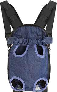Nabegum Dog Backpack Carriers for Small Dogs, Medium Cats Puppies Frontpack Travel Bag for Hiking Camping(Blue, Medium)