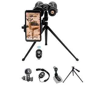 Binoculars Tabletop Photographing Kit with 19-inch Tabletop Tripod, Binoculars Tripod Adapter, Binoculars Phone Adapter