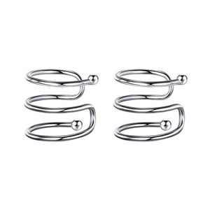 Ear Cuffs for Women Fake Earrings, 925 Sterling Silver Hypoallergenic Ear Cuff Earrings for Women Non Pierced Ears