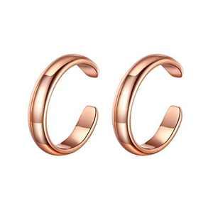 925 Sterling Silver Earrings for Women, Rose Gold Ear Cuff Earrings for Women Non Pierced Ears Fake Piercings, Earcuffs Hypoallergenic Earrings for Women Sensitive Ears