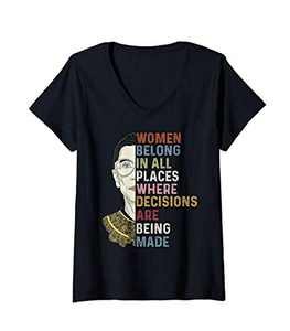 Alisa Speak Your Mind Even If Your Voice Shakes Quotes Feminist Ruth Ginsburg (Ruth Ginsburg) RBG Gift T-Shirt (Black-02, M)