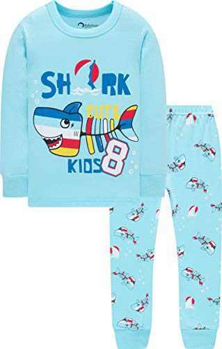 Boys Pajamas Christmas Children Sharks Clothes Kid Children PJs Gift Set Sleepwear Size 5