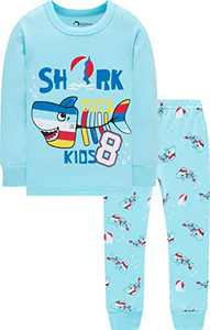Boys Pajamas Christmas Children Sharks Clothes Kid Children PJs Gift Set Sleepwear Size 5
