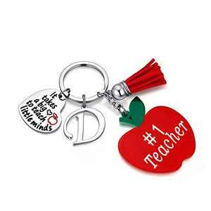 Teacher Gifts, Teacher Appreciation Gifts for Women D Teacher Keychain