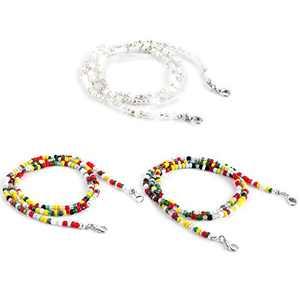 Huinsh Colorful Beaded Eyeglass Chain Sunglass Holder Glasses Strap Lanyards for Women Girls Elderly and Children