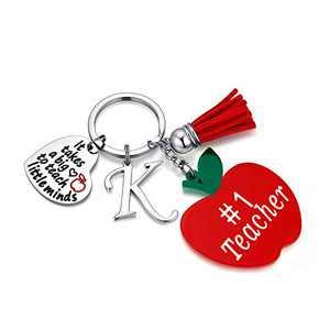 Teacher Gifts for Women, K Teacher Keychain Teacher Gifts from Student