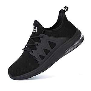 Tennis Shoes for Women - Gym Fitness Athletic Running Womens Shoes Mesh Comfortable Air Cushion Fashion Sneakers All Black Size 10