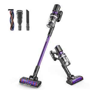 Cordless Vacuum Cleaner, Bagotte 8-in-1 25000Pa Powerful Suction Stick Handheld Vacuum Cleaner for Pet Hair Hard Floor Carpet Car, Lightweight