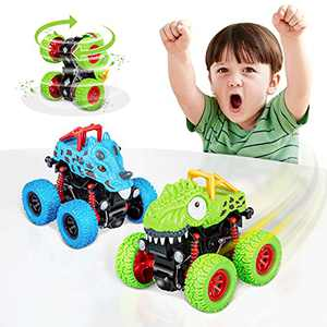 LODBY Dinosaur Toys for 2 3 4 5 Year Old Boys Gifts, Pull Back Vehicles Monster Truck for Toddler Boys Toys Age 2-4-6, Dino Cars Toys for3 Year Old Boys Birthday Gifts for 2-4 Year Old Boys Toys