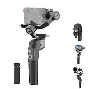 MOZA Mini P Gimbal Stabilizer Handheld 3 Axis Gimbal 4-in-1 for Mirrorless&Compact Camera for iPhone Android Smartphone for Action Camera GoPro up to 1.98Lb Payload
