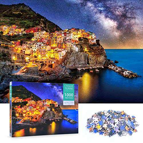 1000 Piece Jigsaw Puzzle for Adults - Cinque Terre - Puzzle 1000 Piece for Adults Decompression Intellectual Home Decoration Large Puzzle Games
