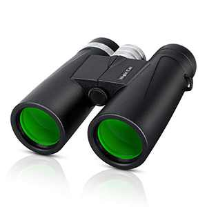 Night Cat Binoculars 10x42 for Adults Kids with Large Eyepiece Easy Focus Clear Weak Light Night Vision for Hunting Bird Watching Outdoor Sports Travel