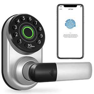 Smart Lock,NGTeco Keyless Entry Door Lock with Bluetooth, Biometric Fingerprint and Keypad, Smart Door Lock Works with Alexa Google Assistant, App Remote Control, Easy to Install for Homes Gift Choice