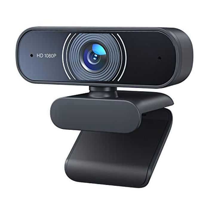 Webcam Full HD 1080P, Dual Built-in Microphones, RaLeno Autofocus USB 2.0 Web Camera, Plug and Play 30fps, for Mac Laptop Desktop Computer, Conference, Video Calling, Recording and Streaming