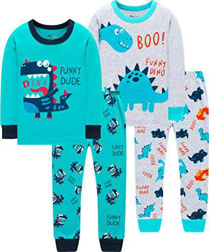 Boys Dinosaurs Pajamas Children Cute Dino Pjs Little Kid Holiday Clothes Pants Set Sleepwear 7t