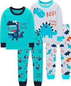 Boys Dinosaurs Pajamas Children Cute Dino Pjs Little Kid Holiday Clothes Pants Set Sleepwear 7t
