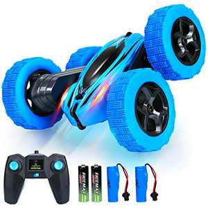 Remote Control Car RC Cars - Drift High Speed Off Road Stunt Truck, 4WD Race Toy with Two Rechargeable Batteries, Cool Birthday Gifts for Boys Age 3 5 6 7 8 9 10 11 Year Old Kids Toys (Blue)
